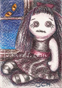 A cute creepy ACEO by Jo Hards