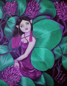 Faerie fantasy art 'Clover' by Jo Hards