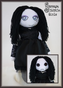 Gothic 'evil twin' art doll by Jo Hards